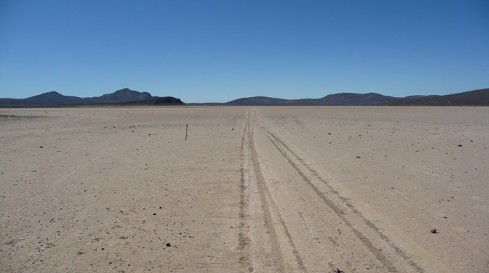 Take a lap or two on a dry lakebed