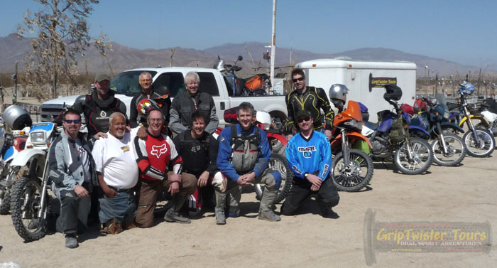 Group shot with Coco, a true Baja icon
